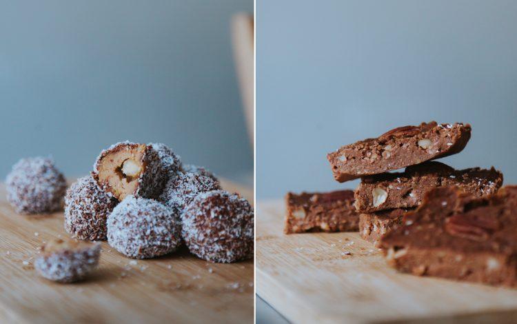 Gezond en lekker: bonbons en brownies gemaakt van kikkererwten