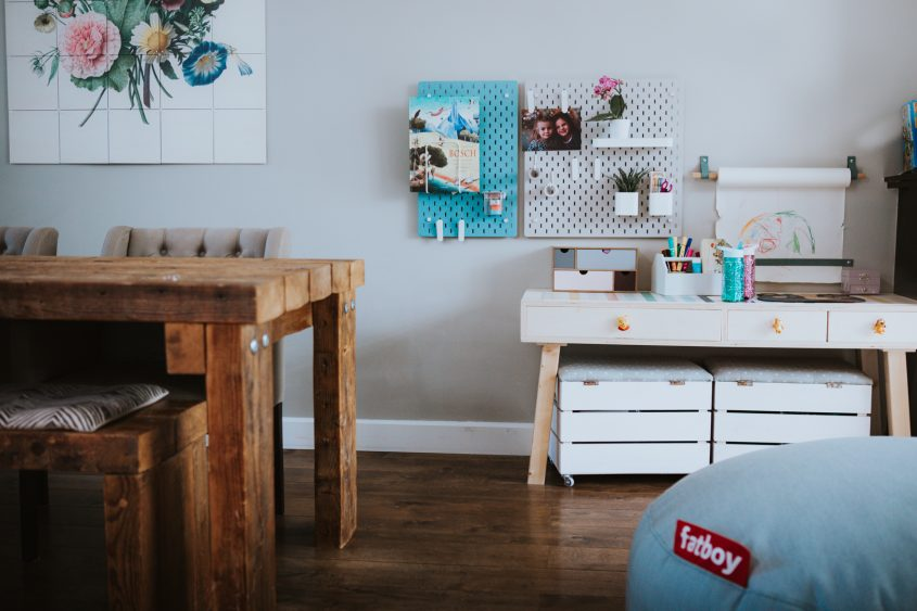DIY project: kinderhoek in de woon- eetkamer