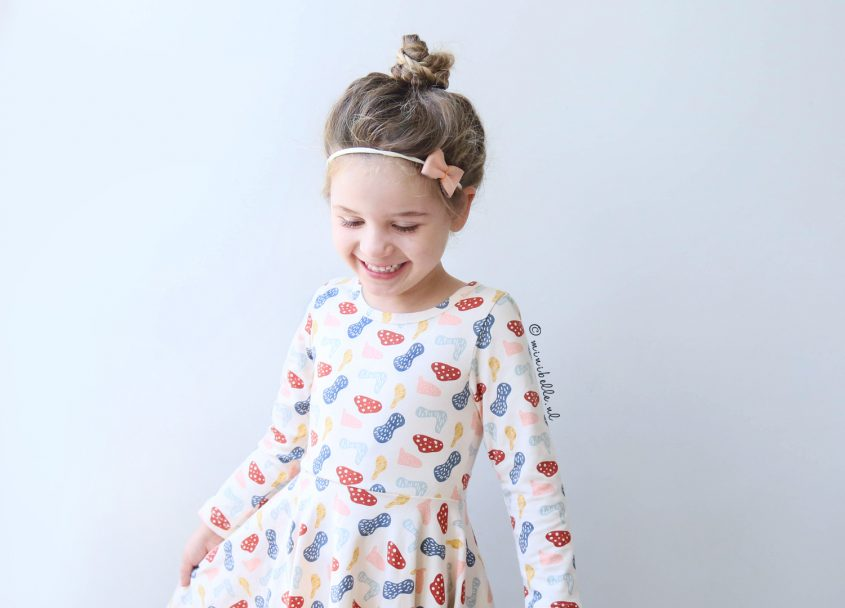 De outfit van Belle: Een retro jurkje en knit cardigan